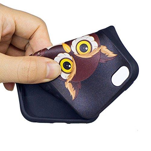 Coque iPhone SE 5S / 5 , IJIA Ultra-mince Beau Papillon TPU Noir Doux Silicone Bumper Case Cover Coque Housse Etui pour Apple iPhone SE 5S / 5 (BF43? BF42