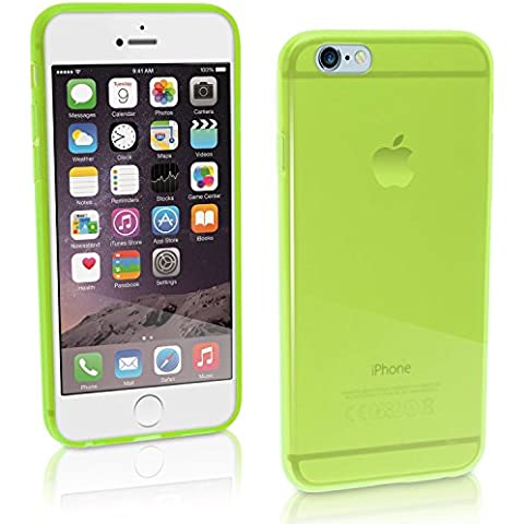 TBOC® Funda de Gel TPU Verde para iPhone 6 (4.7 Pulgadas) de Silicona Ultrafina y Flexible