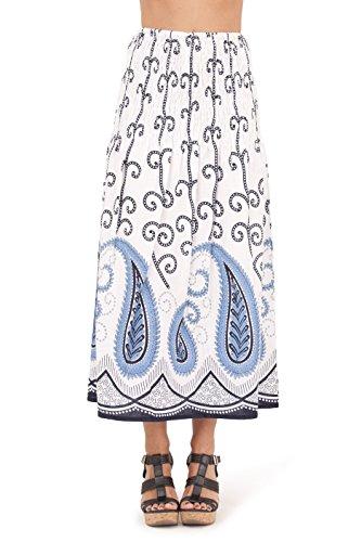Pistachio - Robe Femme Eté 3-en-1 Motif Floral Coton, Bleu 2, S (EU 36-38) Bleu 2