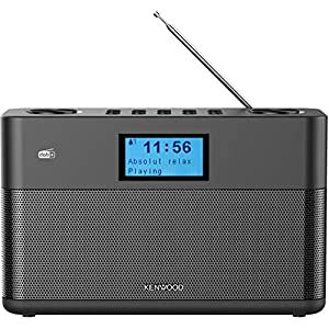 Kenwood CR-ST50DAB-B Stereo Compact Radio (DAB+, FM, Bluetooth, Line-In, Headphone Jack, Alarm Function, Black