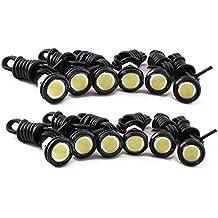Eximtrade Universal 9W LED Blanco Ojo de águila DRL Luces de Circulación Diurna Luz de Niebla Coche Motocicleta (12 Piezas)