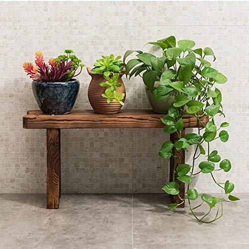 BMY Moderne einfache Leiter - Stil Innenbalkon Wohnzimmer Blumenrahmen Garten Massivholz mehrstöckige Blumenregale (Größe: 60 * 17 * 30 cm) -