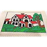 Easy Beginner and Starter Beautiful House Poster Cross Stitch Kit