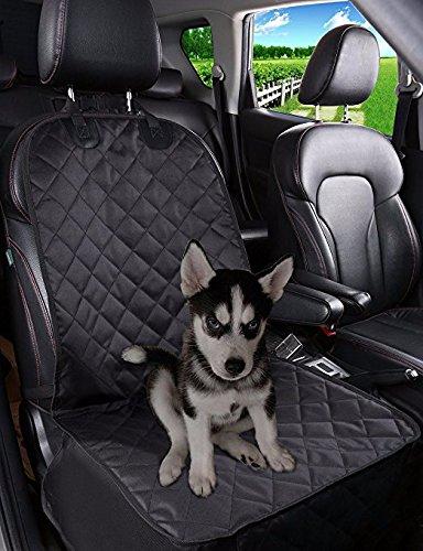 Xinjiener pet sedile anteriore auto copertura resistente antiscivolo in gomma antiscivolo con ancore coperchio sedile resistente per auto camion suv nero