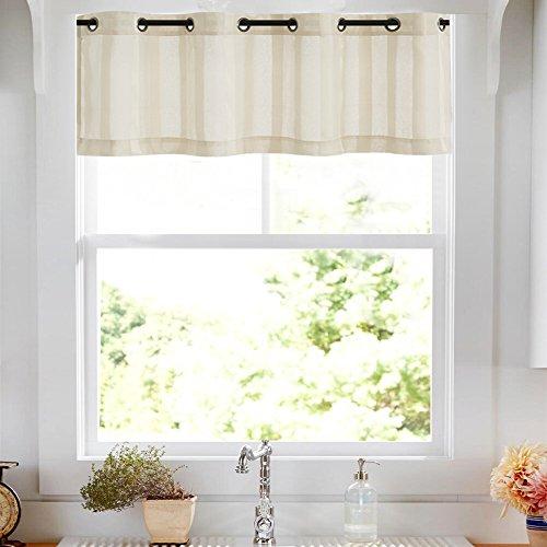 Gestreifte Vorhang für Schlafzimmer, durchscheinender Vorhang für Wohnzimmer, Lichtfilter-Vorhänge, Ösen, 2 Paneele 14