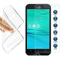 Asus ZenFone GO ZB500KL Cover - MYLB (2 in 1) Slim TPU funda carcasa case + 9H vidrio templado de la película del protector de pantalla para Asus ZenFone GO ZB500KL