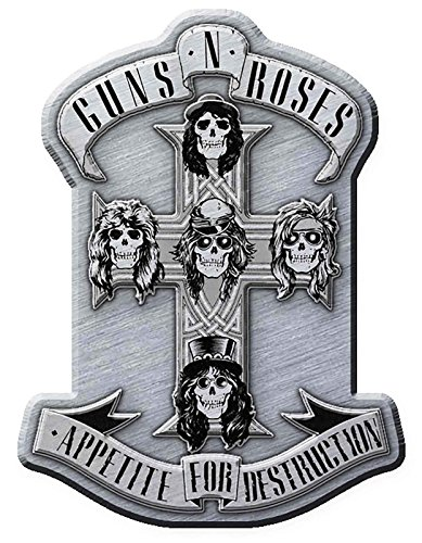 Guns N Roses Pin Badge Appetite for Destruction Band Logo Official Metal Lapel One Size