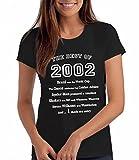 The Best of 2002 - Damen T-Shirt als Geschenk zum 16. Geburtstag: Bk, S