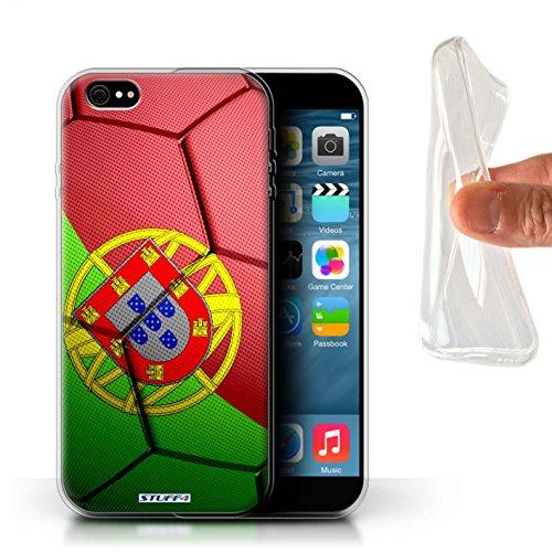 Stuff4 Gel TPU Hülle / Case für Apple iPhone X/10 / Brasilien Muster / Fußball Nationen Kollektion Portugal