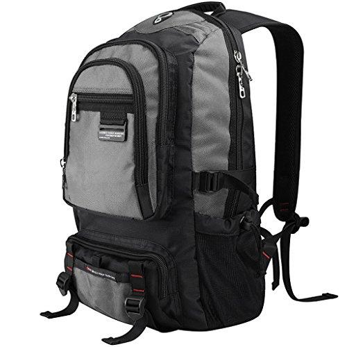 AMOS Student Tasche Multifunktions-Rucksack Reise Schultertasche Männer Freizeit Business Mode Trend Grau