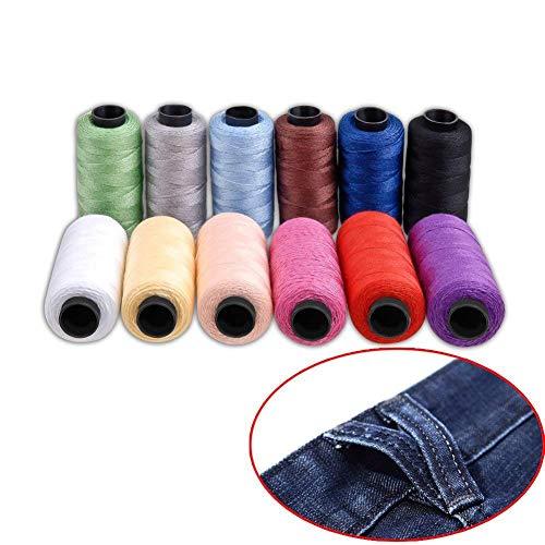 Kit hilo coser Hamhsin 12 bobinas hilo poliéster