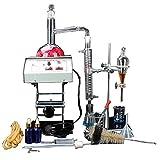 New 1000ml Lab Destillation Apparat ätherisches Öl reines Wasser Brenner Luftreiniger Glaswaren Kits w/Elektroheizung hebt