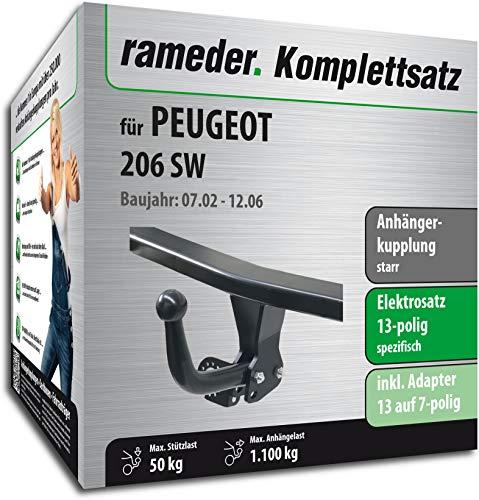 Rameder Komplettsatz, Anhängerkupplung starr + 13pol Elektrik für Peugeot 206 SW (148751-04898-1)