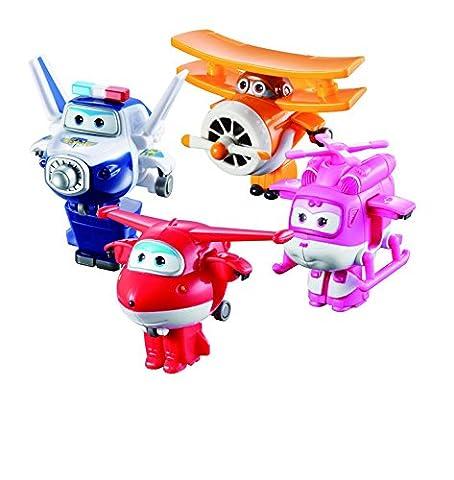 Mini véhicules transformables Super Wings : Jett, Albert, Mira et Paul