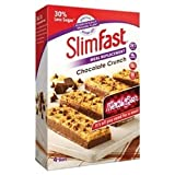 Slimfast Chocolate Meal Replacement Bars 16 x 56g with 30% Less Sugar 217 Calories 15g Protein High in Fibre 23 Essential Vitamins and Minerals Per Bar with Aetn Waist Measuring Tape