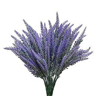 ToomLight Artificial Flores Lavanda Bouquet en púrpura Planta Artificial para la decoración del hogar, Boda, jardín, Patio decoración 1pcs 25 Cabezas