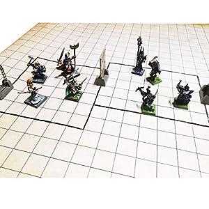 Dungeon Grid Game Mat | IMPRESCINDIBLE Accesorio para Juegos de rol – Batallas – Juegos de Mesa | Compatible con D&D…