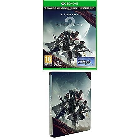 Destiny 2 w/ Salute Emote + Steelbook (Exclusive to Amazon.co.uk) (Xbox One)