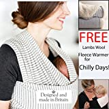 Baby Wrap Sling by Liberty Slings With FREE Lambs Wool Fabric Insert for Chilly Days Bild 6