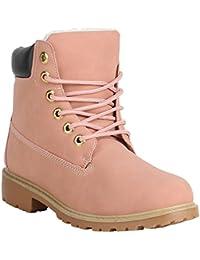 Stiefelparadies Damen Stiefeletten Worker Boots Warm Gefüttert Flandell 7cc664e5a7