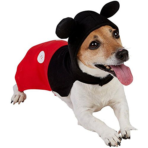 Rubie's Disney Hunde Kostüm Mickey Mouse Hundekostüm Karneval Fasching Gr.XS (Disney Kostüme Für Hunde)