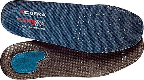 COFRA Einlegesohlen Sany-Gel Gr.46 für Arbeitsschuhe, Die Schuheinlagen schützen Ihre Füße im Arbeitsalltag, Geleinlagen für Schuhe