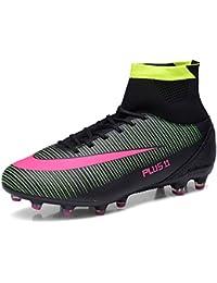 the latest 2368d 03bc0 WOWEI Zapatos de Fútbol Spike Aire Libre Profesionales Atletismo Training Botas  de Fútbol Adolescentes Adultos Zapatos
