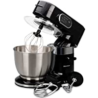 Excelvan Food Stand Mixer 1000W 3-in-1 Beater/Whisk/Dough Hook with 5.5L Stainless Steel Bowl Black