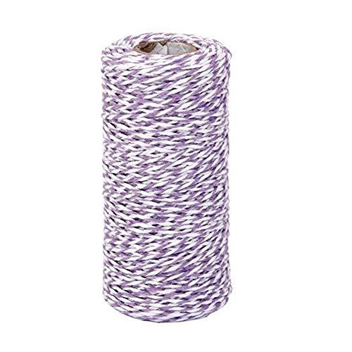 JER 100 m Cotton Küchengarn Geschenk Verpackung Baumwolseil Band Cotton Bakers Twine Perfekt für Backen, Metzger, Handwerk und Weihnachten Geschenkverpackung lila ArtSupplies -