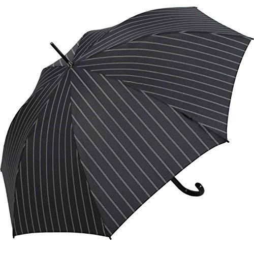 Knirps T.703 Stockschirm Automatic Gatsby Black - Leichtester Langschirm mit Automatikfunktion - Schutz für 2 Personen - 100% Polyester - Windkanal getestet - zuverlässig, kompakt&komfortabel