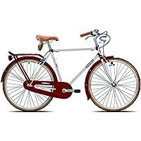 Legnano Ciclo 200Urban, Bicicleta Vintage Hombre, Hombre, Ciclo 200 Urban, Blanco/Rojo, 54
