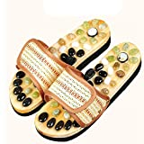 Qian Guijarros antideslizantes pies salud baño ducha masaje zapatillas pie acupressura pie zapatillas , 42-43