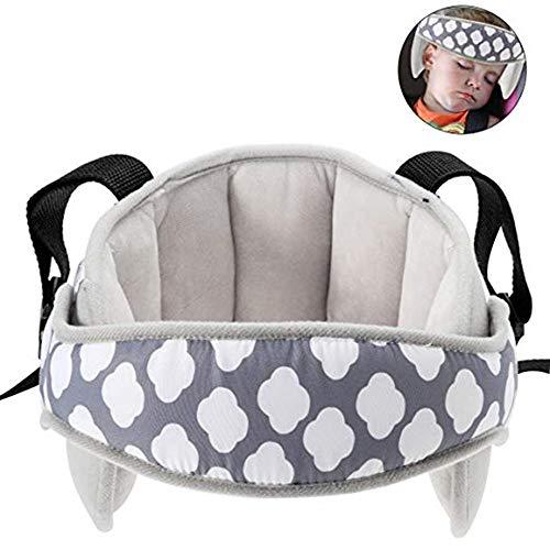 Voarge Kindersitz Kopfband, Autositz Kopfband, Komfortable Safe Sleep Lösung, Verstellbarer Kopfstützgurt für Autositz, Kindersitze (grau)