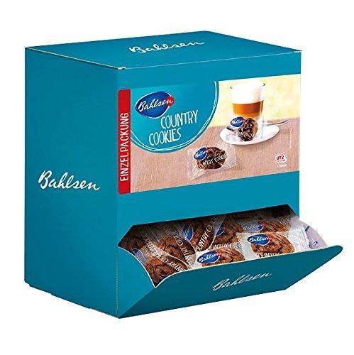 Bahlsen Country Cookies Thekendispenser, 1,1 kg - leckerer Kekse mit Schokoladenstückchen - 140Stück einzeln verpackt in der Großpackung - Schokokeks zum Kaffee oder zum Mitnehmen