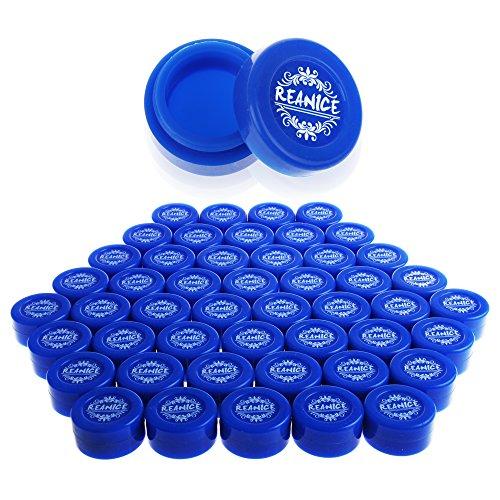 REANICE BOX 50-pack nicht behaftende silikonöl küche container ölplattform - wachs billig(BULE Capacity:10ML Size:3.8cm*2cm)