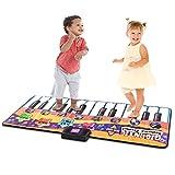 COSTWAY Kinder Musikmatte 180x75cm | Klaviermatte mit 8 Instrumenten | Spielteppich | Spielmatte Musik | Tanzmatte