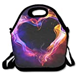 Pzeband Lunch Bag, Cute Lunch Bag, Hot Reusable Lunch Bags for Kids, Digital Art Heart Love