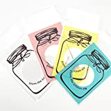 #10: Desi Rang™ Plastic Transparent Candy Cookie Chocolate Gift Bag Self Adhesive Pouch Birthday Wedding Party Conference Meeting seminar Supplies with jar bottle pattern size 7 x 10 + 3 cm , 50 pcs, Color yellow