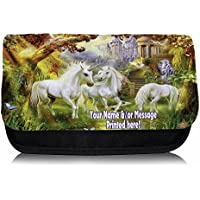 Personalised Unicorn Fantasy St706 School Pencil Case / Make-up Bag / Games Console DS Carrier