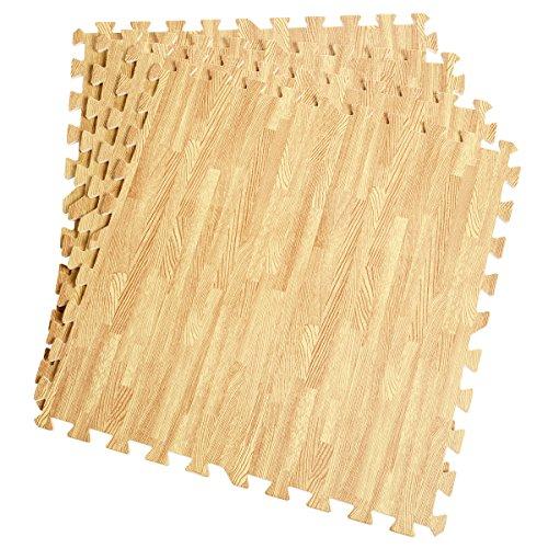 Eva-boden-matte (12 Stück Schutzmatten Set Bodenschutz Matte Bodenschutzmatte Puzzlematte Gymnastikmatte Unterlegmatte Bodenmatte (Holzmaserung))