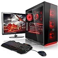 """Megaport Super Méga Pack - Unité Centrale pc Gamer Complet Intel Core i7-8700 Ecran LED 24"""" Claviers de Jeu et Souris GeForce GTX1060 6Go 16Go Win 10 Ordinateur de Bureau pc Gaming"""
