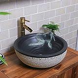 Formte Geschnitzte Stein Waschbecken Kleine Größe Kreative Kunst Becken Bad Waschbecken Schüssel Sink Waschplätze (größe : B)