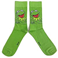 Mens The Muppet Show Kermit The Frog Kermit Socks UK 6-11 / Eur 39-45 / USA 7-12