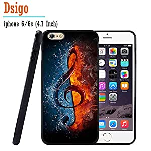 iPhone 6S Case, iPhone 6 Case, Dsigo TPU Black Full Cover Protective Case for New Apple iPhone 6/6S 4.7 inch - Ice and Fire collision