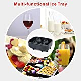 Idefair(TM) 3D Skull Ice Cube Mold,Food Grade Silicone Ice Cube Tray for Whiskey Cocktails Juice Beverages Chocolate Candy,Easy Release Realistic Skull Ice Candy Chocolate Mold Maker ,BPA Free