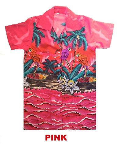 SAITARK - Chemise casual - À Fleurs - Homme Multicolore - Rose
