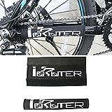Protector negro resistente para cuadro de bicicleta, cubierta protectora para estancia de cadena