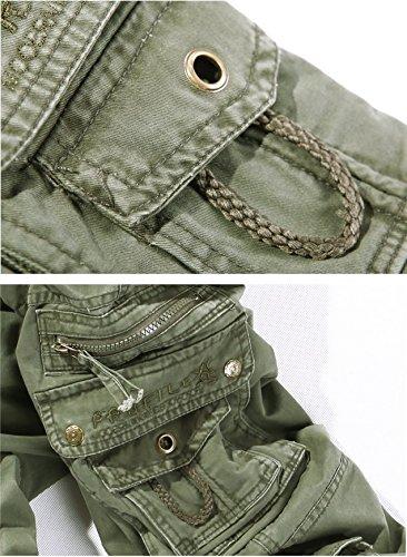 AYG Herren Cargo Hose Freizeit Baumwolle Trousers Casual Sport Army 29-40 Dark Grass Green Nr.15