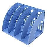 LONTG Présentoir de Fichiers avec 4*Compartiments Porte-revues Magazines...