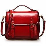 AN KANG LEATHER Handtaschenart Und Weiseileiterbeutel Der Wilden Tasche Weiblicher Neuer Tendenz 2018 Kurierbeutel (Rot)